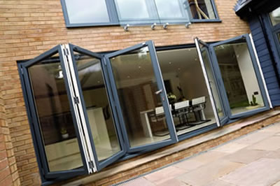 Smart aluminium, Schuco and Warmcore bi-folding multi doors