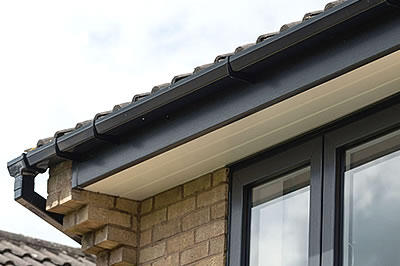 replacement roofline products include fascia, soffit, bargeboards, cladding, guttering & downpipes