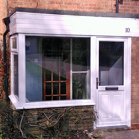 Replacement entrance porch installed in Shirley, Solihull