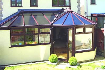 The P-shape a combination conservatory from Solihull WDCs