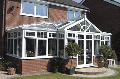 The T-shape combination conservatory from Solihull WDC