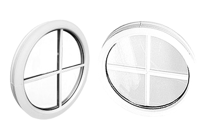 round, or circular PVCu double or triple glazed porthole windows are available from Solihull WDC